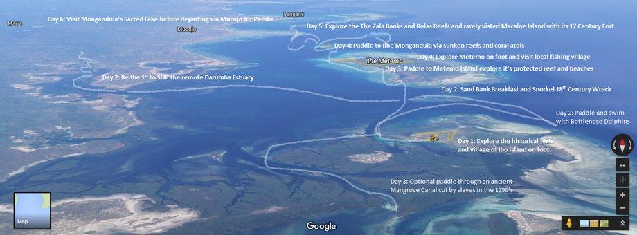 Quirimbas Google Map