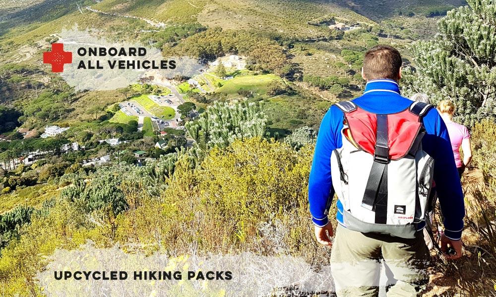 Upcycled Hiking Packs