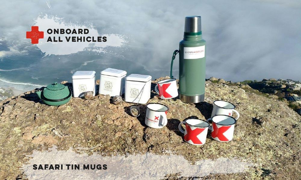 Safari tin mugs